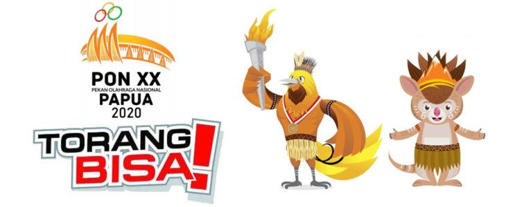 logo, maskot, pon 2020 di papua, torang bisa