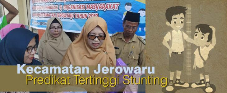 Stunting tinggi di lombok timur, kecamatan jerowaru, ibu bupati