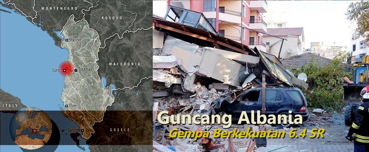 gempa bumi hari ini, gempa albania, 6.4 SR