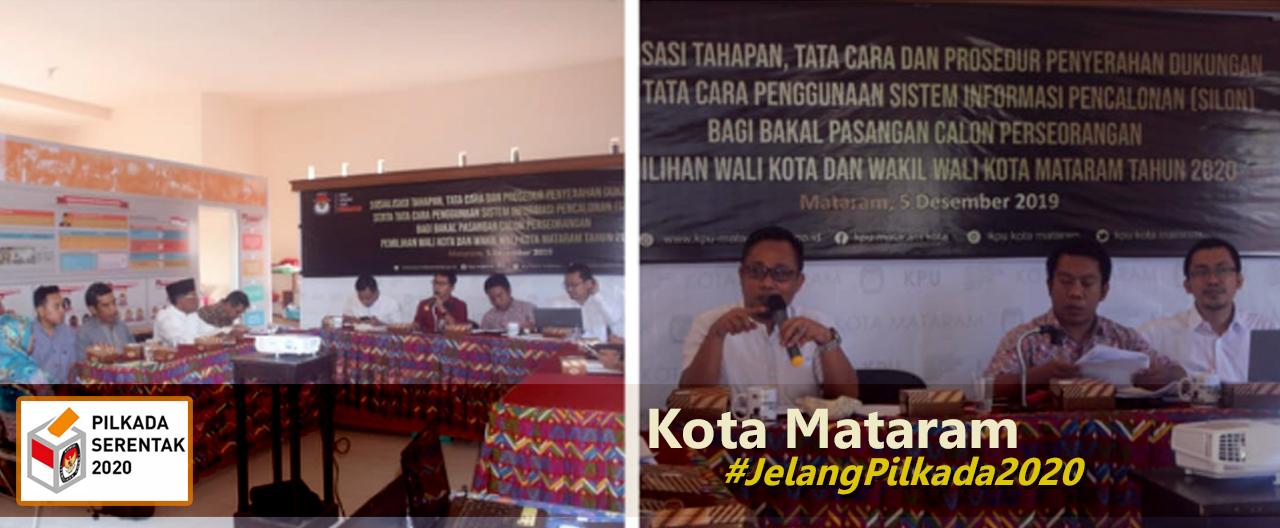 pilkada kota mataram 2020, kpu kota mataram, pilwalkot mataram, lombok ntb