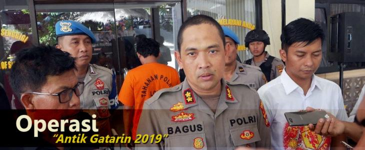 polres lombok barat, operasi antik gatarin 2019