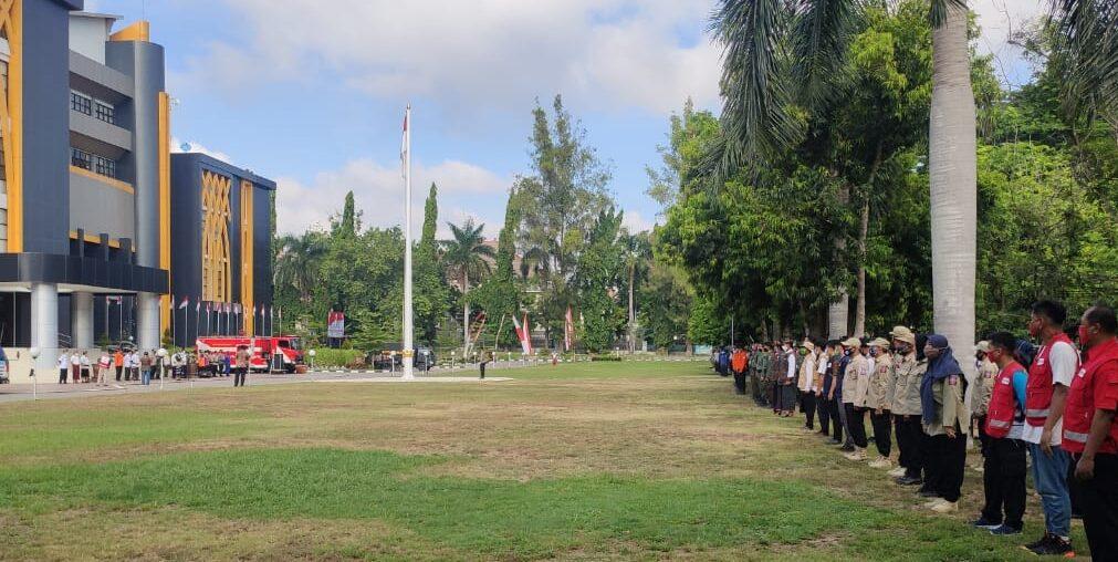 Lombok timur, gelar apel kesiapsiagaan bencana, tni, polri bnpb