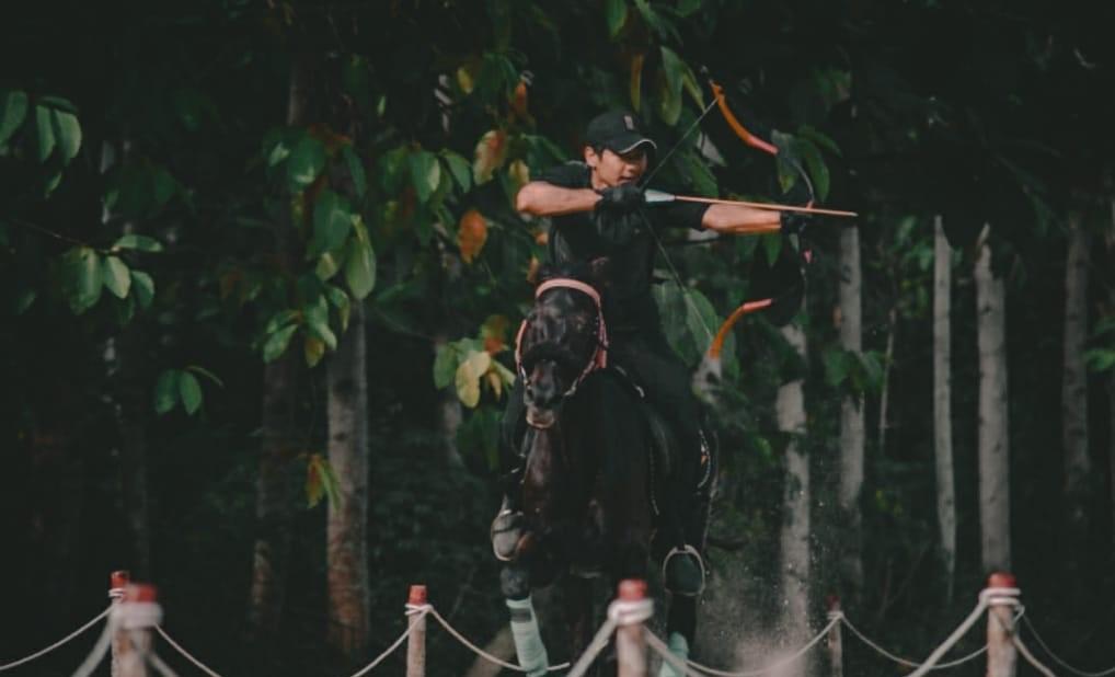 affan hamzah, atlet dan pelatih horseback archery, pemanah berkuda , asal lombok