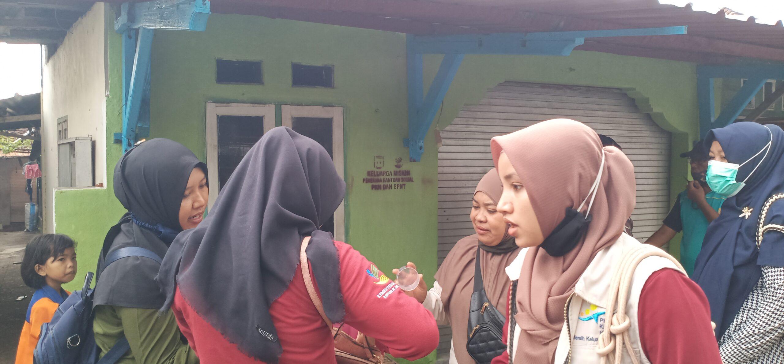 labelisasi pkh di kecamatan selong, labelisasi di kelurahan selong, labelisasi pkh di lombok timur