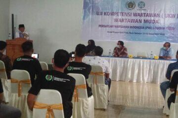 ukw di lotim, pwi lombok timur gelar ukw, uji kompetensi wartawan di lotim 2020, h rumaksi sj, wakil bupati lotim