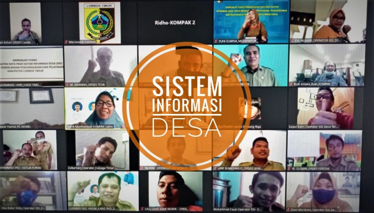 bimtek sid di lotim, sistem informasi desa di lotim, dinas pmd lombok timur