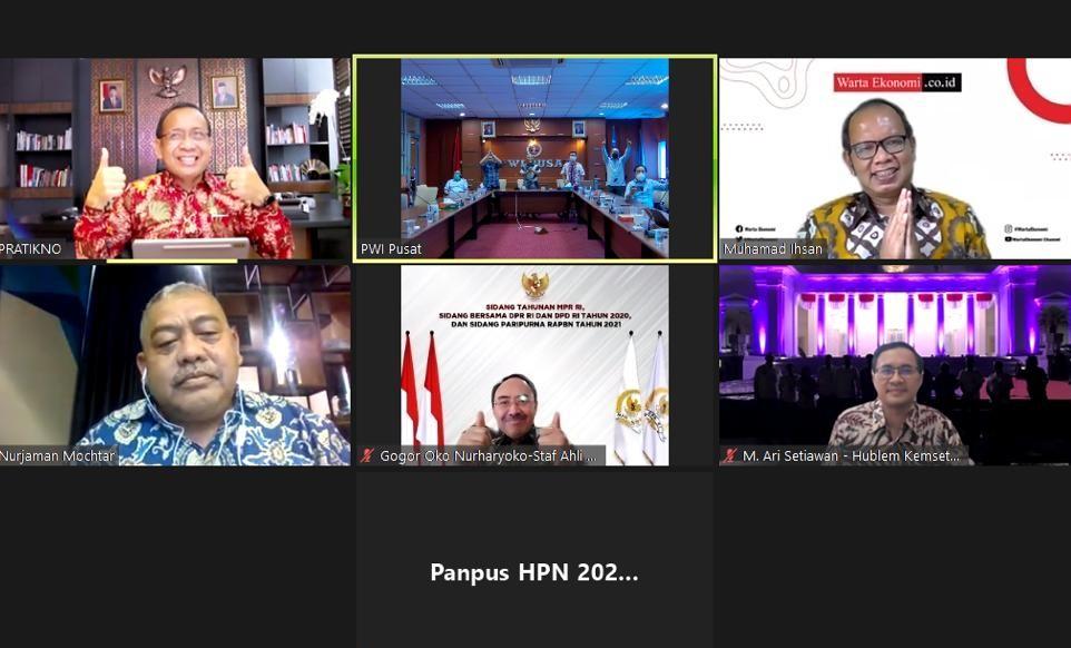 Presiden Joko Widodo Dipastikan Hadir Pada Hari Pers Nasional 2021.