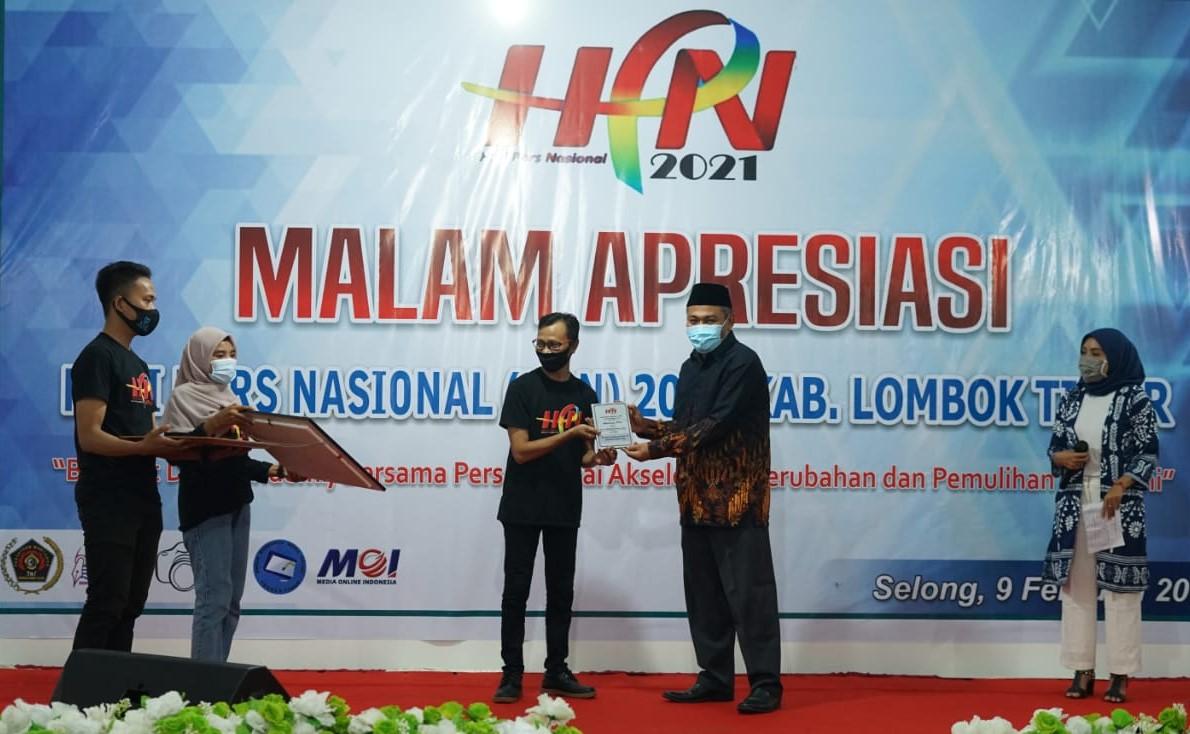 hpn tahun 2021 di lombok timur, malam apresiasi hpn 2021
