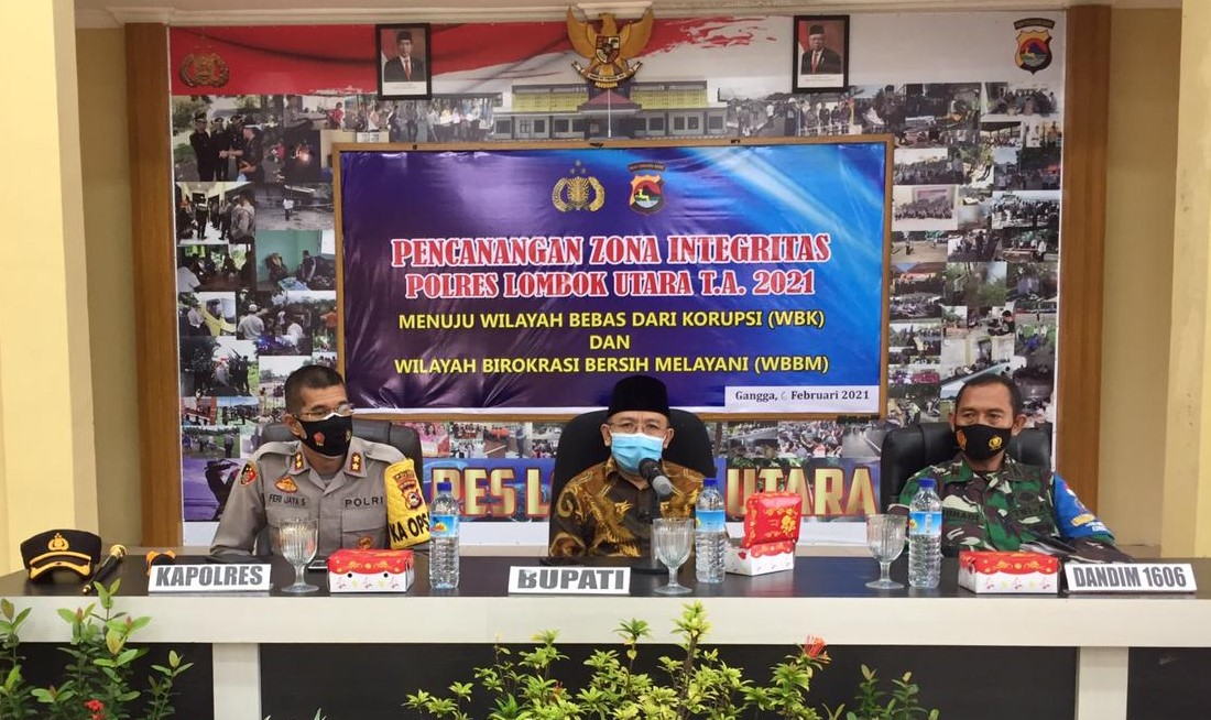 Cegah Korupsi, Polres Lotara launching Zona Integritas