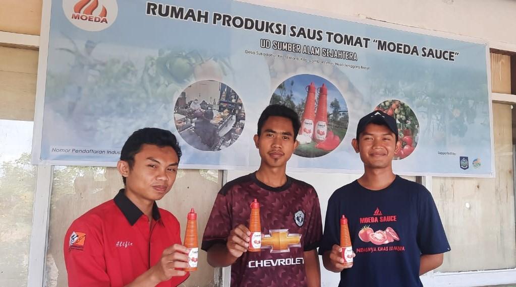 Pemuda Millennial dari Desa Sukadana Ciptakan Saus Tomat