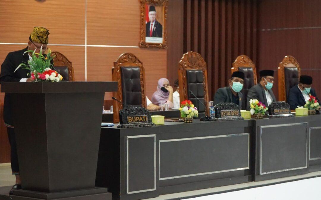Bupati Sukiman Azmy hadiri Paripurna DPRD Lotim, Penetapan Keputusan LKPJ