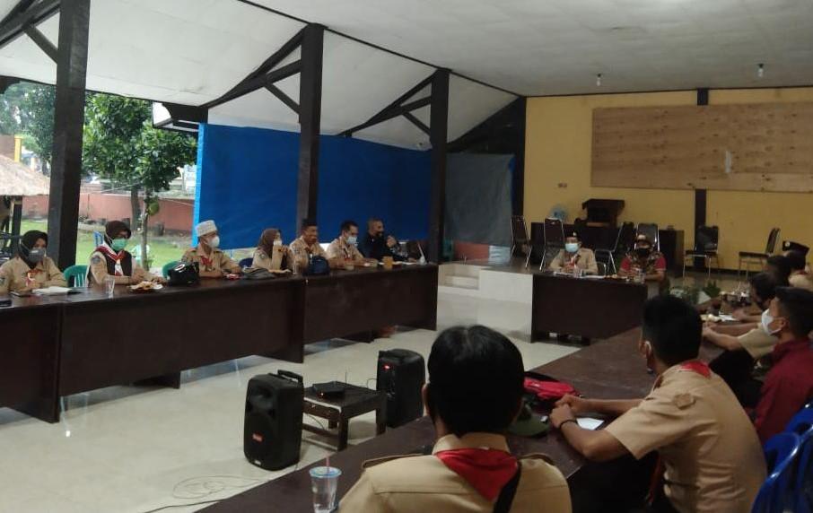 Waka Abdimas Kwarcab Lotim Gelar Rapat Koordinasi dengan Satgas Pramuka Peduli