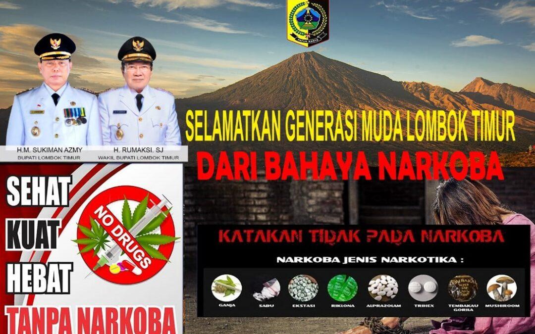 Bersama Perangi Narkoba di Lombok Timur