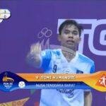 Cetak Hat-Trick, Romi Humandri Tenggerkan NTB di Posisi ke-1 Klasmen Group A Futsal PON XX Papua 2021