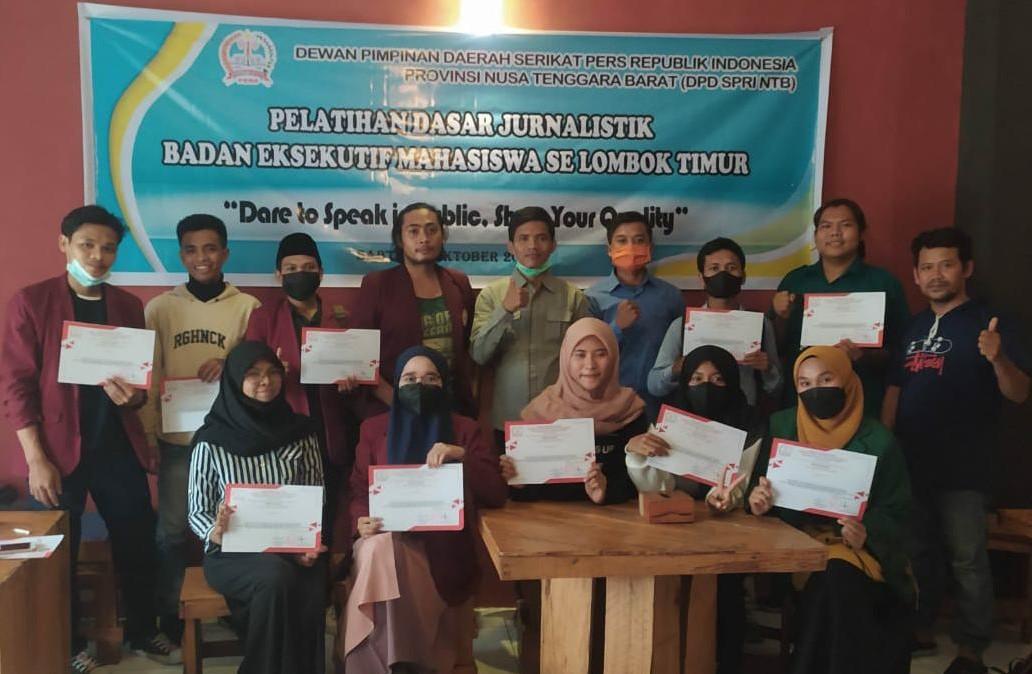 Sejumlah BEM Se-Lombok Timur Ikuti Pelatihan Jurnalistik
